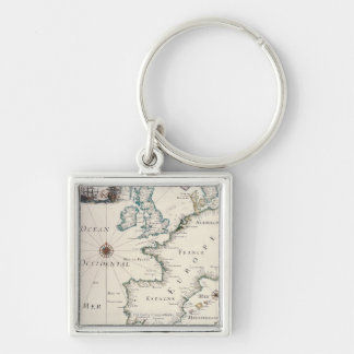 Map of Europe Keychain