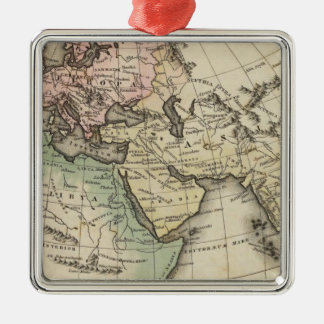map of Europe, Northern Africa and Southeast Asia Metal Ornament