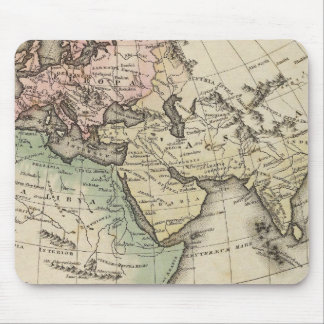 map of Europe, Northern Africa and Southeast Asia Mouse Pad