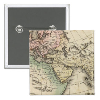 map of Europe, Northern Africa and Southeast Asia Pinback Button