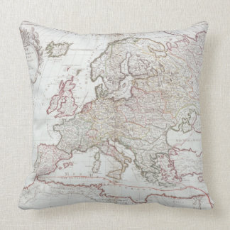 Map of Europe Throw Pillows