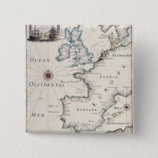 Map of Europe Pinback Button
