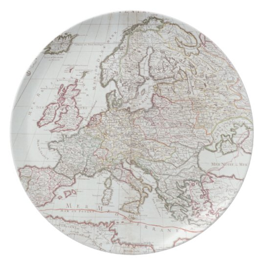 Map of Europe Plate