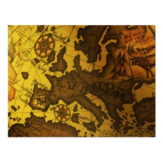 Map of Europe Postcard