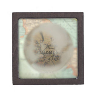 Map of Europe seen through crystal ball 2 Gift Box