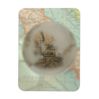 Map of Europe seen through crystal ball 2 Magnet