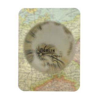 Map of Europe seen through crystal ball 3 Magnet