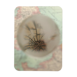 Map of Europe seen through crystal ball 4 Magnet