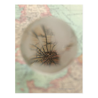Map of Europe seen through crystal ball 4 Postcard