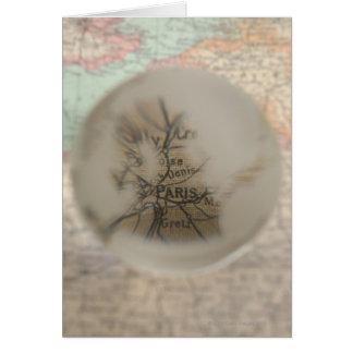 Map of Europe seen through crystal ball 5 Card