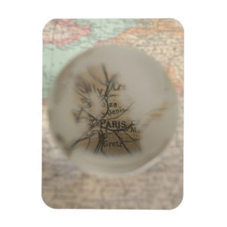 Map of Europe seen through crystal ball 5 Magnet