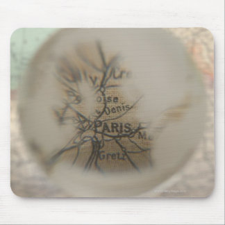 Map of Europe seen through crystal ball 5 Mouse Pad
