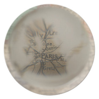 Map of Europe seen through crystal ball 5 Plate