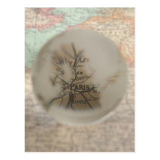 Map of Europe seen through crystal ball 5 Postcard