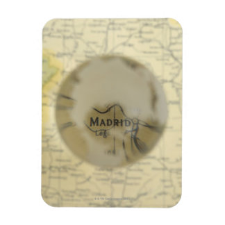 Map of Europe seen through crystal ball Magnet