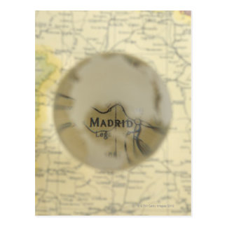 Map of Europe seen through crystal ball Postcard