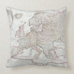 Map of Europe Throw Pillows