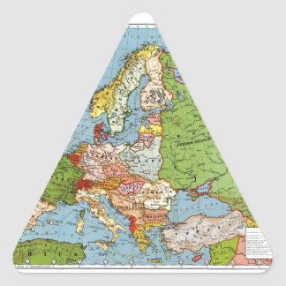 Map of Europe Triangle Sticker