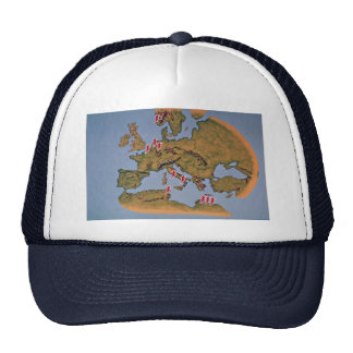 Map of Europe, where the guards operated during Wo Trucker Hats