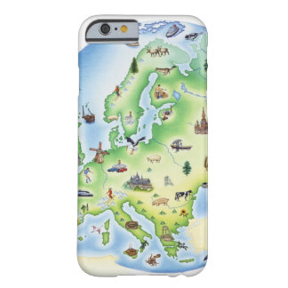 Map of Europe with illustrations of famous Barely There iPhone 6 Case