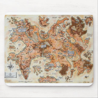 Map of Evansher Mouse Pad