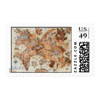 Map of Evansher Postage