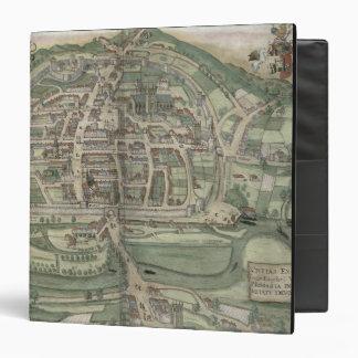 Map of Exeter, from 'Civitates Orbis Terrarum' by 3 Ring Binder