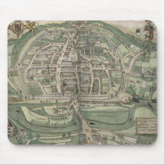 Map of Exeter, from 'Civitates Orbis Terrarum' by Mouse Pad