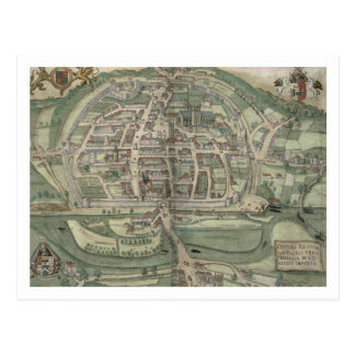 Map of Exeter, from 'Civitates Orbis Terrarum' by Postcard