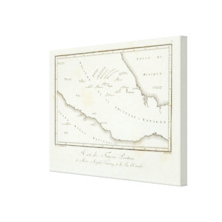 Map of false position in Mexico Gallery Wrap Canvas