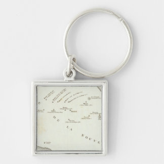 Map of false position in Mexico Keychain
