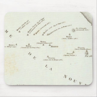 Map of false position in Mexico Mouse Pad