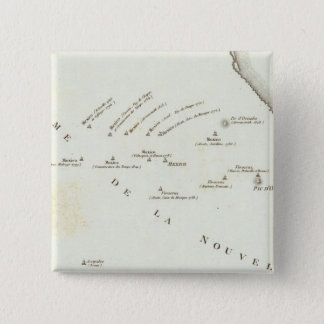 Map of false position in Mexico Pinback Button