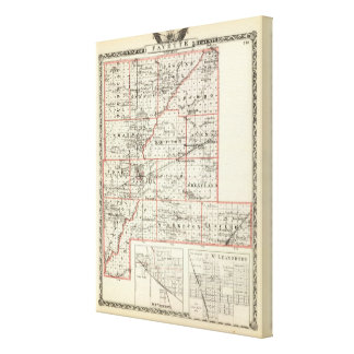 Map of Fayette County, Mt Vernon and McLeansboro Canvas Print