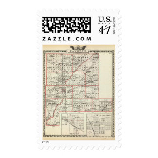 Map of Fayette County, Mt Vernon and McLeansboro Postage
