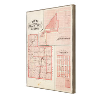 Map of Fayette County with East Connersville Canvas Print