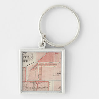 Map of Fayette County with East Connersville Keychain