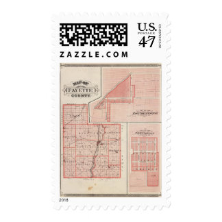 Map of Fayette County with East Connersville Postage