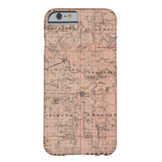 Map of Fillmore County, Minnesota Barely There iPhone 6 Case