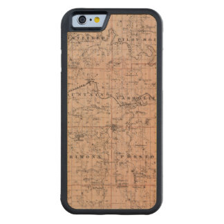 Map of Fillmore County, Minnesota Carved® Maple iPhone 6 Bumper