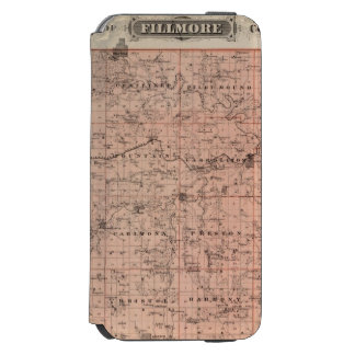 Map of Fillmore County, Minnesota iPhone 6/6s Wallet Case