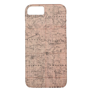 Map of Fillmore County, Minnesota iPhone 7 Case
