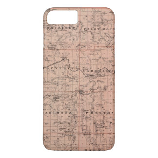 Map of Fillmore County, Minnesota iPhone 7 Plus Case