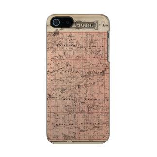 Map of Fillmore County, Minnesota Metallic iPhone SE/5/5s Case