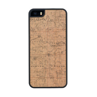 Map of Fillmore County, Minnesota Wood Phone Case For iPhone SE/5/5s