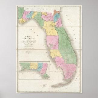 Map of Florida 2 Poster