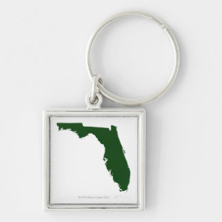Map of Florida 3 Keychain