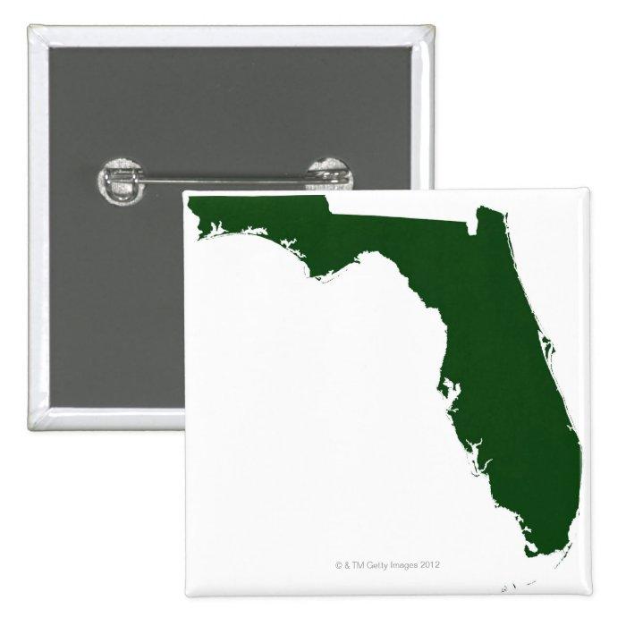 Map of Florida 3 Pinback Button