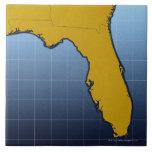 Map of Florida Ceramic Tile