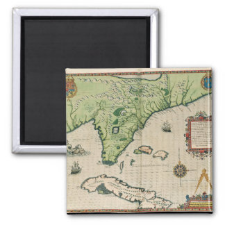 Map of Florida, from 'Brevis Narratio' Magnet